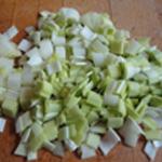 Bisque-de-crevettes-Couper les poireaux