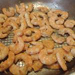 Bisque-de-crevettes-Chauffer les crevettes
