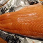 Cuillère de Saumon-Découper le saumon