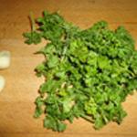 Noix-de-St-Jacques-aux champignons Ciseler le persil