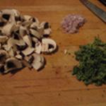 Noix-de-St-Jacques-aux champignons Emincer les champignons