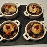 Noix-de-St-Jacques-aux champignons Terminer