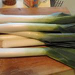Poireaux-au-jambon-Couper les poireaux
