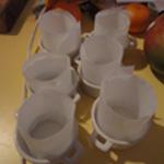 Souffler-glacer-de-mangue Chemiser les moules