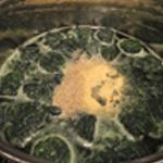 Soupe-aux-épinards-Ajouter l'ail semoule