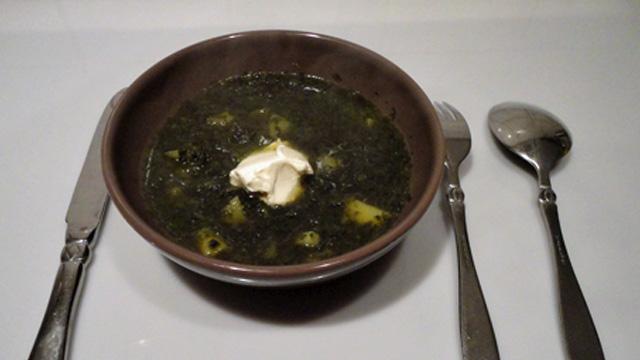 Soupe-aux-épinards-Terminer