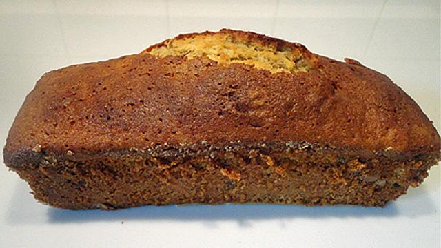 Cake à la mangue Le cake est cuit