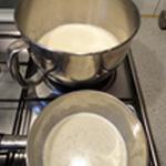 Crème patissière lait chaud