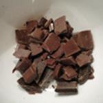 Délice au chocolat Fondre le chocolat au lait
