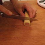 Feuillété de saucisses Trancher