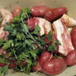 Queue de cochon Ajouter les pommes de terre