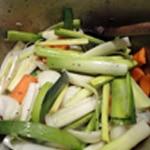 Risotto aux cèpes Saisir les légumes