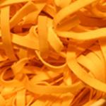Tagliatelles aux crevettes Tagliatelles séchées