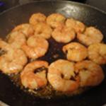 Tagliatelles aux crevettes Saisir