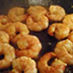 Tagliatelles aux crevettes Retourner les crevettes
