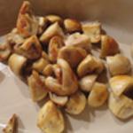 Tagliatelles aux crevettes Saisir les champignons