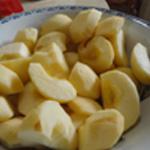 Aumônière de pomme Couper les pommes