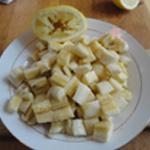 Clafoutis de banane Couper en rondelles