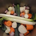 Fromage de tête Couper les légumes