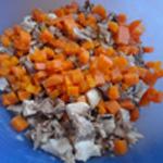 Fromage de tête Emincer les légumes
