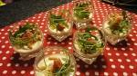 Panna cotta roquefort et jambon cru