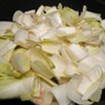 Potage d'endives Couper les légumes
