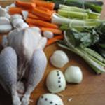 Poule au pot la poule et les légumes