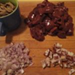 Rognons de boeuf et champignons Les ingrédients