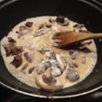Rognons de boeuf et champignons Réduire la crème
