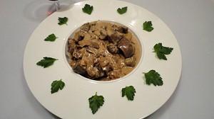 Recette de Rognons de boeuf et champignons