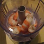 Soufflé aux crevettes Mixer les crevettes