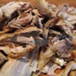 Tarte au Roquefort Désosser le poulet