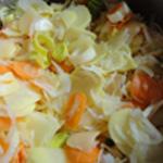 Baeckoeffe Une couche de légumes