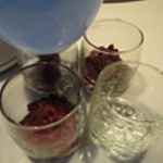 Betterave rouge en verrine Remplir les verrines