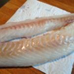 Cabillaud en papilotte Rincer le poisson