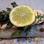 Cabillaud en papillote Une rondelle de citron