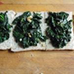 Roti de cabillaud Epinard sur pain