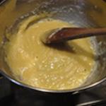 Croissant au jambon Incorporer la farine