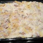 Lasagnes à la ricotta Couche ricotta et tomates