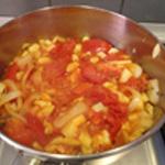 Soupe à la tomate Ajouter l'eau