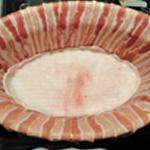 Terrine de faisan Tapisser avec la barde au fond