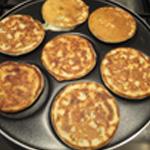 Ail des ours pancakes Retourner les pancakes