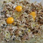 Parmentier de poulet Ajouter les oeufs