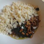Pesto ail et pignons de pin Ajouter les pignons