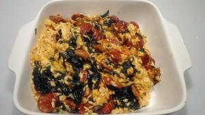 Recette de Risotto épinard et Chorizo