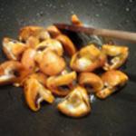 Risotto épinards Saisir les champignons