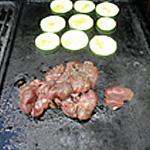 Rognon de veau au barbecue Retourner le rognon