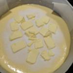 Gateau au sucre Parsemer de beurre