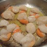 St Jacques fondue de poireaux Saisir les noix