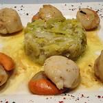 St Jacques fondue de poireaux Terminer